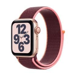 Apple Watch SE GPS + Cellular, 40mm Gold Aluminium Case with Plum Sport Loop