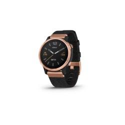 Garmin Fēnix 6S Sapphire 42mm - Rose Gold-tone with Heathered Black Nylon Band