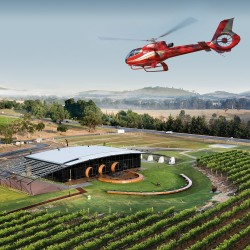 Helicopter tour over Yarra Valley with master chef lunch
